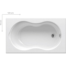 Ванна акриловая Ravak Lilia 120x70