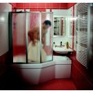 Шторка для ванной Ravak VS3 115 белая + Раин