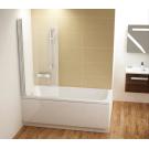 Шторка для ванн CVS1-80 L белый стекло Transparent Ravak 7QL40100Z1