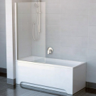 Шторка для ванн CVS1-80 L сатин стекло Transparent Ravak 7QL40U00Z1