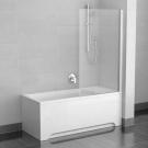 Шторка для ванн CVS1-80 R белый стекло Transparent Ravak 7QR40100Z1