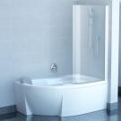 Шторка для ванн CVSK1 ROSA 140/150 L белая транспарент Ravak 7QLM0100Y1