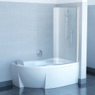 Шторка для ванн CVSK1 ROSA 140/150 L сатин транспарент Ravak 7QLM0U00Y1