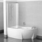 Шторка для ванн CVSK1 ROSA 160/170 L блестящая транспарент Ravak 7QLS0C00Y1