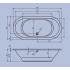 Riho Ванна акриловая SETH 180х86 47 245 л овальная