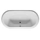 RIHO акриловая ванна DUA 180x86 с черной панелью (глянец) (Сифон и опора в комплекте)