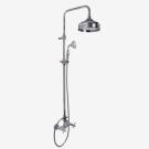 F5085/2CR Душевая система с верхним 200mm и ручным душем без излива на ванну Fima Carlo Frattini серия Elizabeth хром