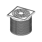 TECE Базовая решетка 100 х 100 мм с монтажным элементом пластик 3660001