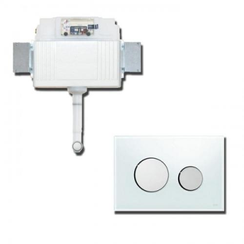 К041660 Комплект для установки напольного унитаза с панелью смыва 9240660 TECElooр хром глянц.
