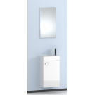 Зеркало + тумба-умывальник (акриловая раковина) Aqwella МАСТЕР-БОКС Mb-L.00.04 Белый