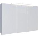 Шкаф-зеркало 3-х дверный со светильниками Aqwella Бродвей Brw.04.10 Бордовая