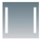 COMFORTY Зеркало Жасмин-75 светодиодная лента сенсор 750х650