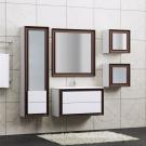 Комплект мебели Opadiris Капри 80 Белый глянцевый/Орех Антикварный нагал