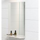 573013 Зеркало EASY с полочкой без подтсветки капучино Cersanit