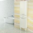 COMFORTY Шкаф-колонна Монако-40 белый