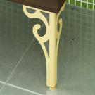 COMFORTY Комплект ножек декоративных 2 шт (золото) к тумбе-умывальнику Римини 60,80 (фигурные)