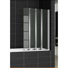 Шторка для ванной Cezares PRATICO-V-4-100/140-C-Cr