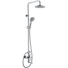 Душевая колонна со смесителем для ванны c верхним и ручным душем BelBagno RENO REN-VSCM-CRM