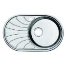 Мойка для кухни нержавеющая сталь полированная чаша справа Iddis Suno SUN77PRi77