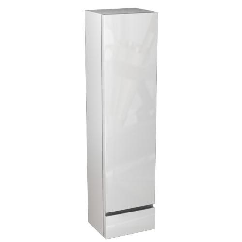 Пенал Domino боковой верхнийй левый 120x30x25 см белый/белый глянец IFO 1241031200