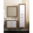 Комплект мебели Opadiris Карат 100 Белый глянцевый с золотой патиной или Белый глянцевый с серебряной патиной