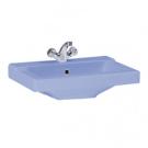 131108S0311B0 Умывальник Орион крап голубой, 56 см, с 1 центральным отверстием Santeri