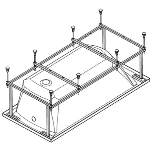 112420 Монтажный комплект к ванне акриловой прямоугольной Корсика 180х80 Santek
