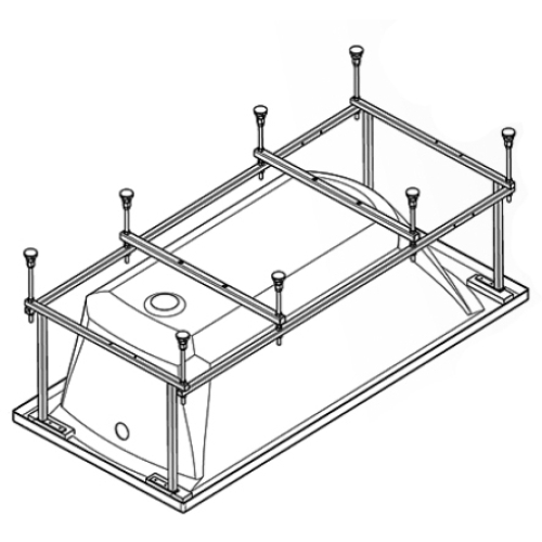 112421 Монтажный комплект к ванне акриловой прямоугольной Монако 170х70 Santek