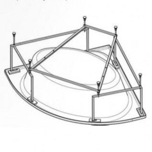 112432 Монтажный комплект к ванне акриловой симметричной Канны 150х150 Santek