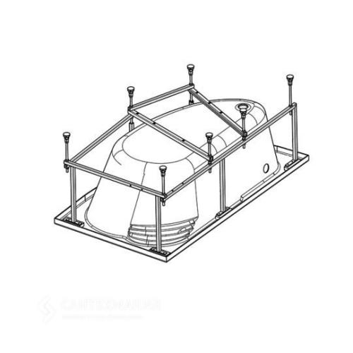 112431 Монтажный комплект к ванне акриловой асимметричной Майорка 150х90 Santek