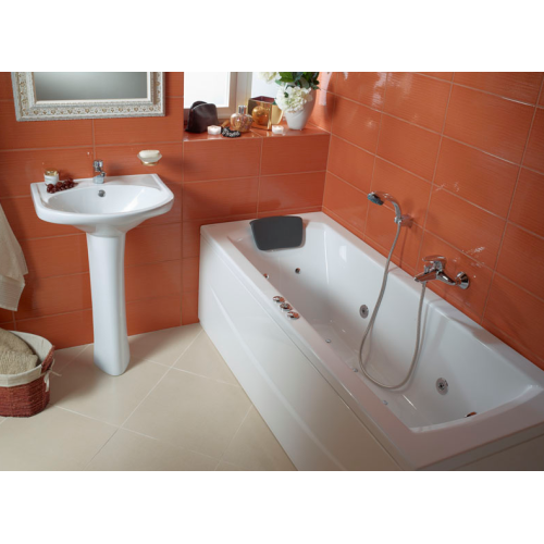 Ванна акриловая Монако 160х70 с гидромассажем Базовая Santek