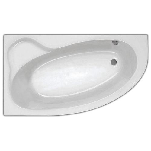Ванна акриловая Эдера 170х110 левая с гидромассажем Базовая Santek