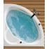 Ванна акриловая Карибы 140х140 с гидромассажем Комфорт Santek