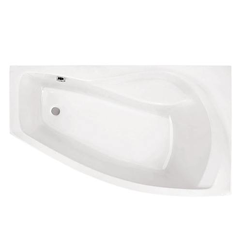 Ванна акриловая Майорка XL 160х95 правая с гидромассажем Базовая Плюс Santek