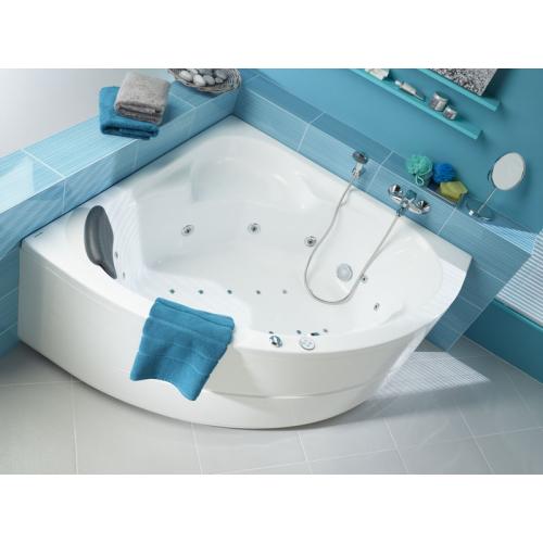 Ванна акриловая Карибы 140х140 с гидромассажем Комфорт Плюс Santek