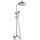 OPAL C душевая колонна со смесителем для ванны, поворотный излив (верхний душ круглой формы) Bravat 7F6125183CP-A1-RUS