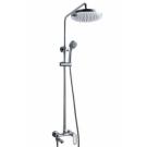 OPAL душевая колонна со смесителем для ванны, поворотный излив (верхний душ круглой формы, d245) Bravat 7F6125183CP-A3-RUS