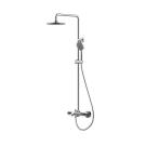 WATERFALL душевая колонна с термостатическим смесителем для ванны. Верхний душ: 220 mm Bravat 7F639114C-A-RUS