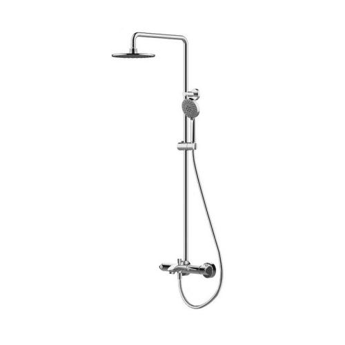 WATERFALL душевая колонна с термостатическим смесителем для ванны (верхний душ 220 мм) Bravat 7F639114C-A-RUS