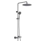WATERFALL душевая колонна с термостатическим смесителем для ванны. Верхний душ: 220 mm Bravat 7F939114C-A-RUS
