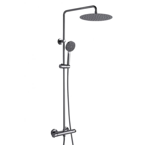 WATERFALL душевая колонна с термостатическим смесителем для ванны (верхний душ 220 мм) Bravat 7F939114C-A-RUS