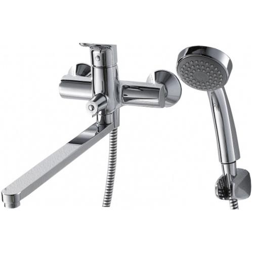 DROP cмеситель для ванны и душа с длинным изливом и душевой лейкой Bravat 7F64898C-LB
