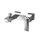 ICEBERG смеситель для ванны с коротким изливом и душевой лейкой Bravat 7F676110C-B
