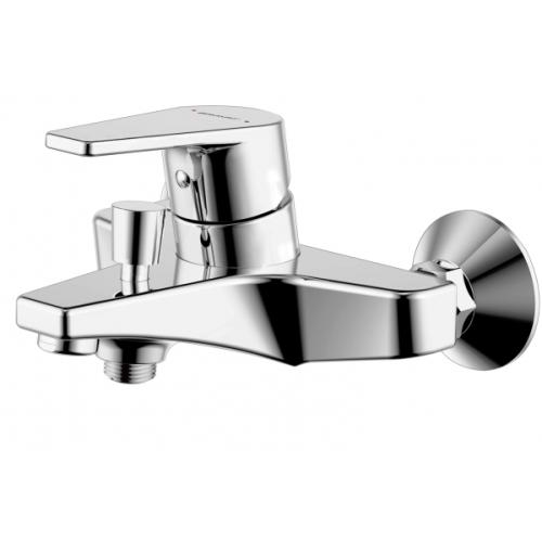 LINE cмеситель для ванны и душа с коротким изливом и душевой лейкой Bravat 7F65299C-B