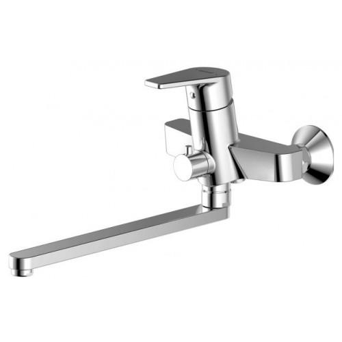 LINE cмеситель для ванны с длинным изливом 300 мм Bravat 7F65299C-1L