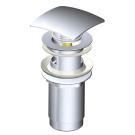 Alcaplast A-393 Водослив для умывальника click/clack 5/4, металл с квадратной заглушкой