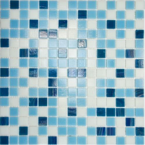 Elada Мозаика HK-14 бело-голубой микс Aventurin