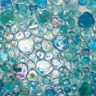 Elada Мозаика M8L3342 голубой микс Luster Glass