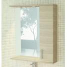 Зеркало-шкаф Марио 75 с подсветкой сосна лоредо Comforty