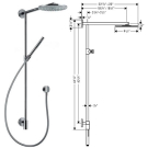 Hansgrohe 27164000 Душ.набор Raindance Connect 240 Showerpipe